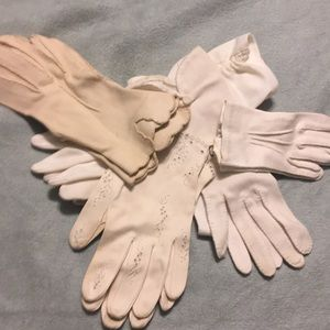 Vintage cotton gloves